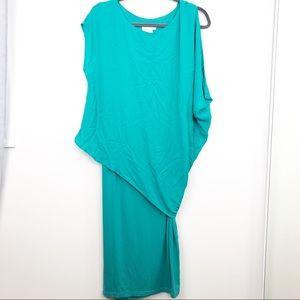 ASOS Turquoise Layered Maternity Midi Dress